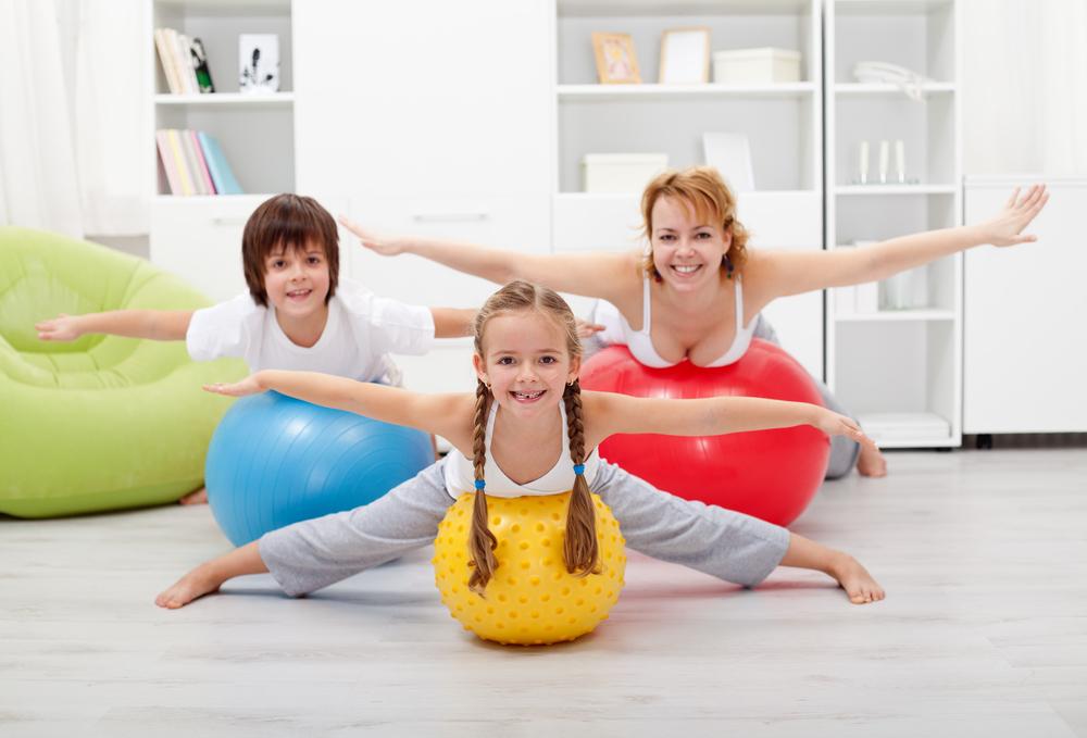 ejercicio con niños